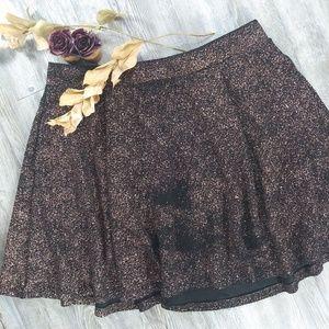 Torrid Metallic Foil Skater Skirt Sz 1